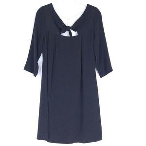 Trina Turk Silk Shift Dress Open Draped Back m2984